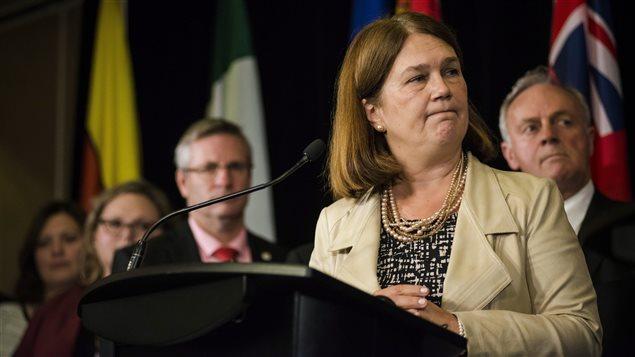 La ministre fédérale de la Santé, Jane Philpott, à l'issue de sa rencontre avec ses homologues provinciaux