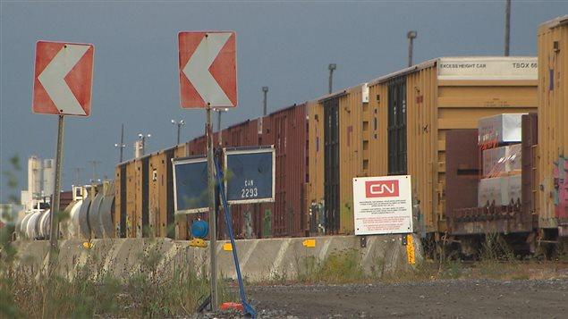 La gare de triage de Taschereau, dans Saint-Laurent, appartient au CN.