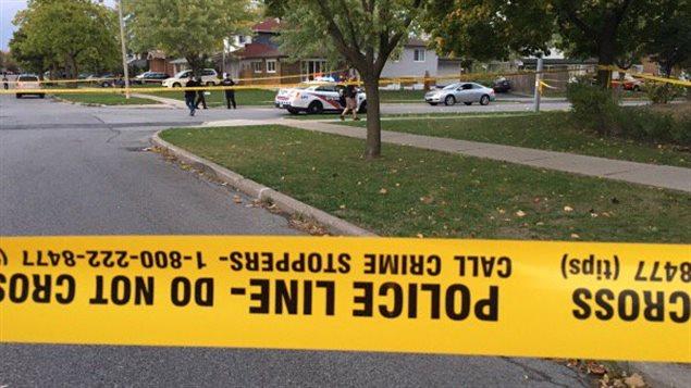 La fusillade a eu lieu près de l'intersection des rues Albion Road et Silverstone Drive.