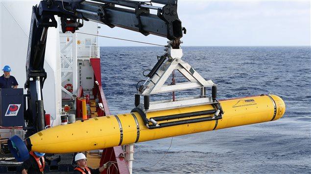 Le drone sous-marin Bluefin 21 à la recherche du Boeing 777 de la compagnie aérienne Malaysia Airlines.