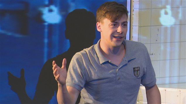 Le comédien Alex Trahan