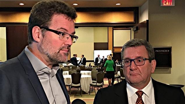 Le maire de Gatineau, Maxime Pedneaud-Jobin, et son homologue de Québec, Régis Labeaume, sont à Ottawa pour le Caucus des maires des grandes villes du Canada.