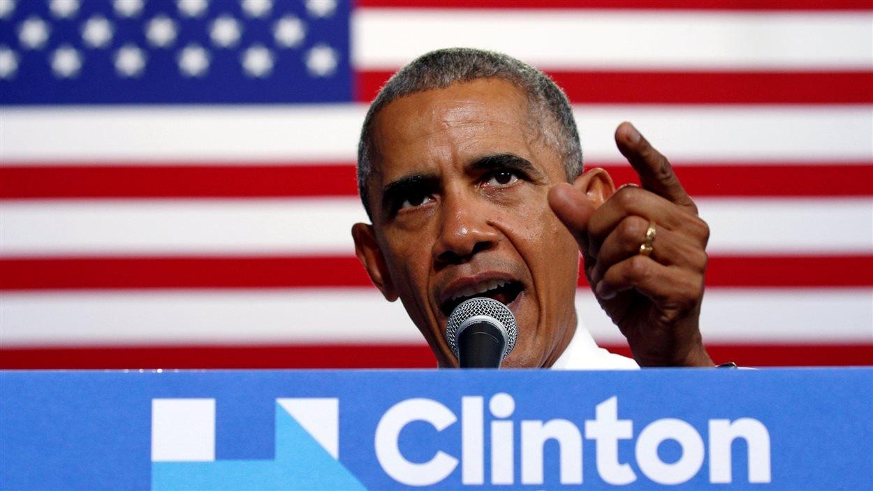 Le président américain Barack Obama a critiqué l'attitude de Donald Trump à l'occasion d'un événement de soutien à la candidate démocrate, Hillary Clinton, en Floride.