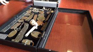 Une collection d'objets trouvés dans les eaux du port d'Esquimalt