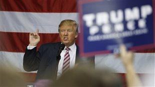 Le candidat républicain à la présidence, Donald Trump, lors d'une activité de campagne en Ohio, le 20 octobre 2016