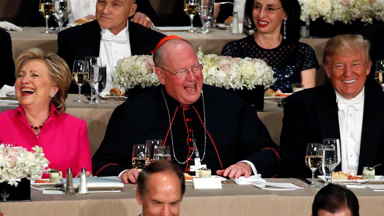 Les candidats à la présidence ont pris part au dîner annuel de la fondation Alfred E. Smith, à New York.