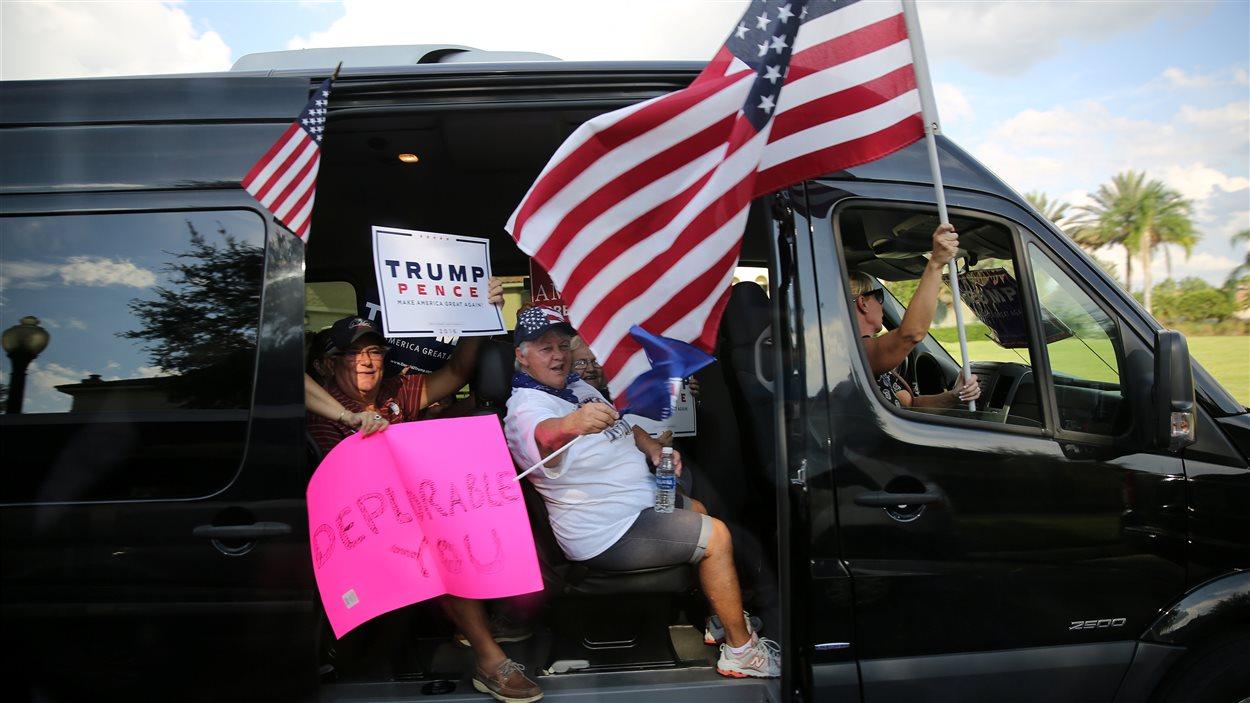 Des partisans de Donald Trump à Orlando