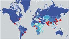 Où s'entasse-t-on le plus dans les villes?La réponse en carte