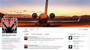 Un journaliste publie sur Twitter les atterrissages et les décollages des avions des dictateurs à l'aéroport en Suisse