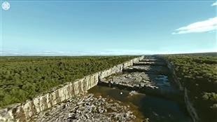 Hydro-Québec propose une visite en 360 degrés du barrage, du réservoir et de la centrale électrique Robert Bourassa à la Baie James.