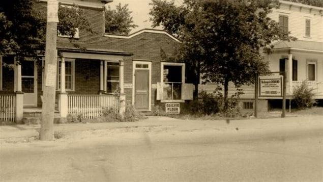 La boulangeie Durand de Chambly dans les années 1950. Devenue aujourd'hui Le Garde-manger de François