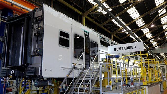 Une usine de Bombardier à Crespin, dans le nord de la France, où est fabriqué un train régional.