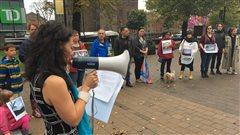 Opposition à Muskrat Falls : des manifestants à Halifax appuient le gréviste de la faim Billy Gauthier