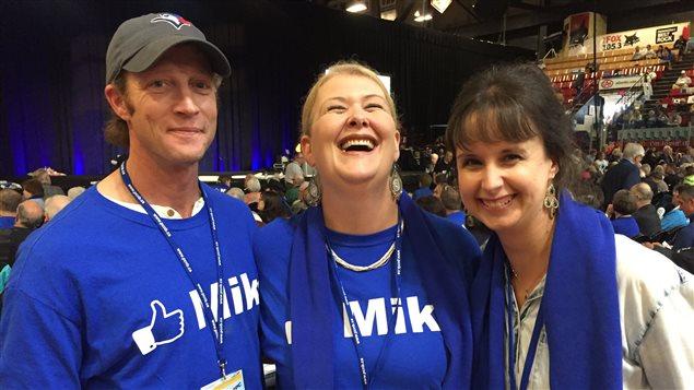 Des membres du Parti progressiste-conservateur, au congrès du parti à Fredericton.
