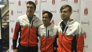 Alex Boisvert-Lacroix, Gilmore Junio et Laurent Dubreuil seront les têtes d'affiche de l'équipe canadienne de patinage de vitesse sur le 500 mètres.