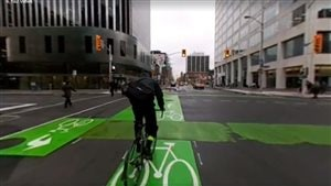 La nouvelle piste cyclable de la rue O'Connor au centre-ville d'Ottawa
