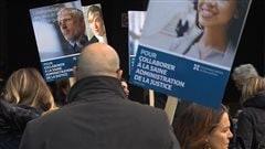 Les avocats et notaires de l'État québécois dans la rue
