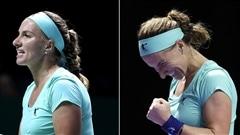 Kuznetsova se coupe les cheveux pendant un match et l'emporte!
