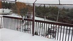 Première neige sur l'Est du Québec