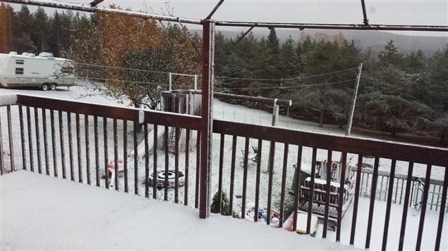 Première neige à Sainte-Paule