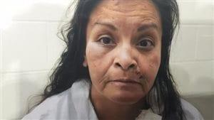 Une photo de Frances Sugar, accusée d'avoir tué sa fille Lindey Sugar, trois heures après l'incident.