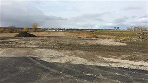 Le terrain du futur Colisée de Trois-Rivières.