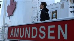 Charles Asselin fait partie des 10 élèves qui ont été choisis pour une mission de huit jours sur l'Amundsen, un navire scientifique qui sillonne l'Arctique canadien.