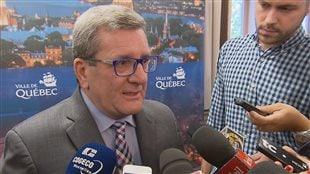 La maire de Québec, Régis Labeaume