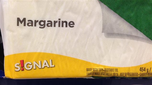 La margarine de marque Signal de Sobeys est l'un des produits qui contient plus que la limite recommandée de gras trans.