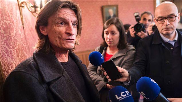 Marcus Malte lors de l'annonce de sa victoire pour le prix Femina