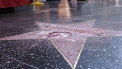 L'étoile de Donald Trump à Hollywood détruite à coups de pioche