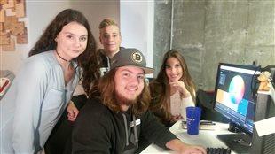 Des élèves participent à l'atelier de création de jeux vidéo offert en collaboraiton avec Ubisoft.