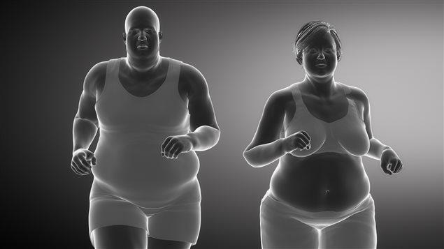 Des personnes obèses courent
