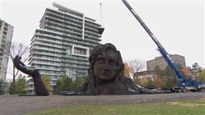Les travaux ont débuté dans le parc Jacques-Cartier pour l'exposition MOSAÏCANADA 150/2017.