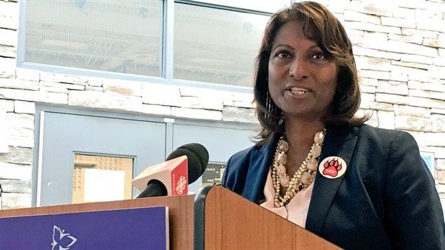 Indira Naidoo-Harris, députée de la circonsciption de Halton