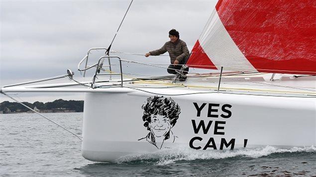 Jean Le Cam sur son bateau