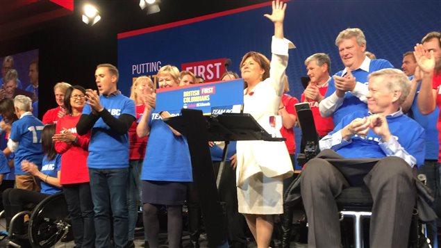 Christy Clark lors du congrès du Parti libéral de C.-B. à Vancouver