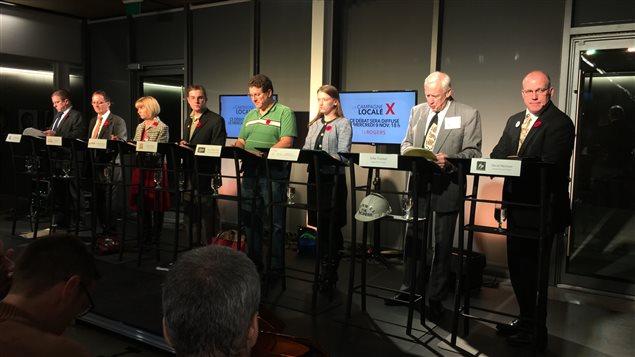 Huit candidats sur onze ont pris part au débat en français organisé par l'ACFO d'Ottawa et la télévision Rogers.