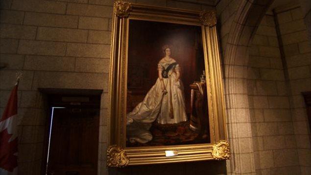 Un portrait de la reine Victoria qui a survécu à quatre incendies