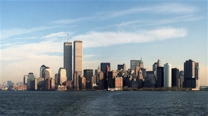 Une vue de Manhattan avec les 2 tours du World Trade Center