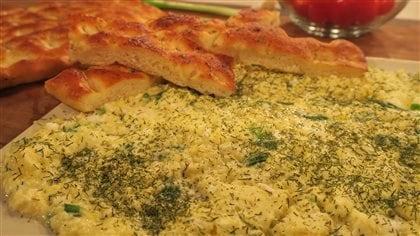 Omelette au féta du café Byblos