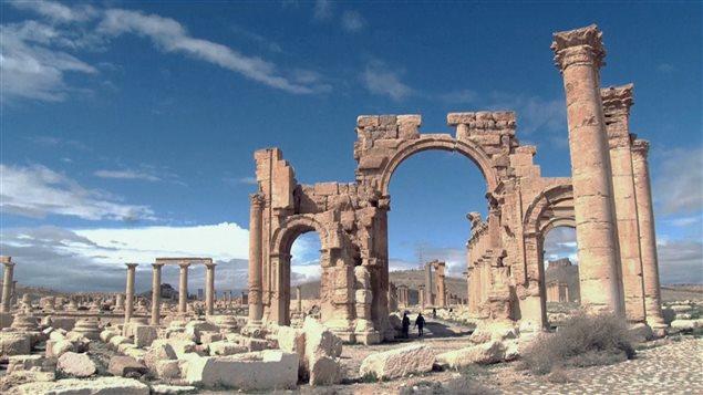 La cité de Palmyre reconstruite par un robot sculpteur