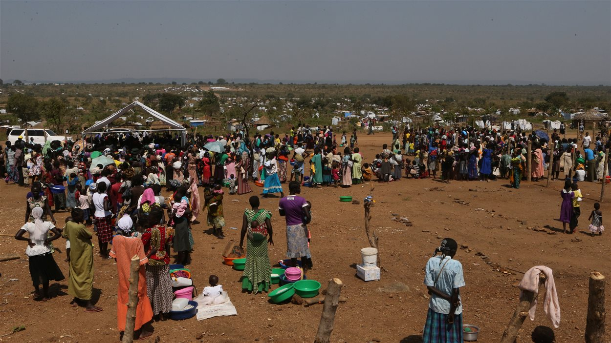 Réfugiés sud-soudanais au camp de Bidi Bidi près de la frontière du Sud-Soudan, district de Yumbe, nord de l'Ouganda