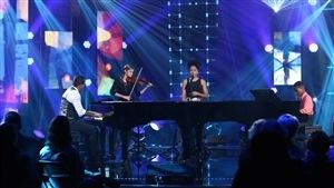 La formation musicale propose Et Exultavit (Cantique pour Alpha du Centaure), une pièce composée pour eux par Gregory Charles.