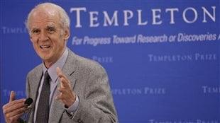 Charles Taylor lors d'une conférence de presse à New York, en 2007