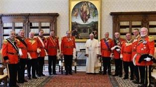 Le pape François et le grand maître de l'Ordre de Malte, Fra Matthew Festing, le 23 juin 2016