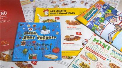 Les menus pour enfants dans les restaurants