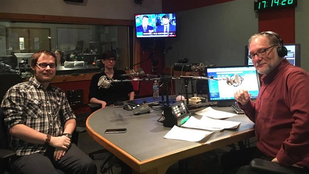 De gauche à droite: Isabelle Cloutier, Benjamin Galipeau et Michel Plourde à l'émission Boréale 138