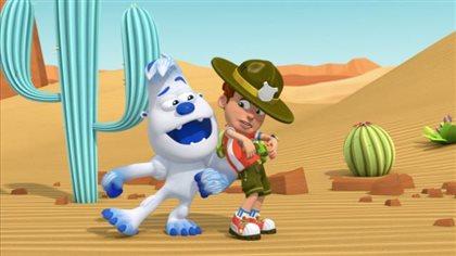 Tempête de sable dans le désert