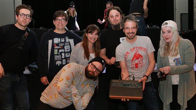 Fabien Loszach, Martin Lessard, Catherine Mathys, Jean-François Provençal, Karl Tremblay, Matthieu Dugal et Kazzie Charbonneau